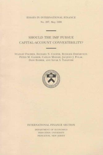9780881651140: Should the Imf Pursue Capital-Account Convertibility? (Essays in International Economics)