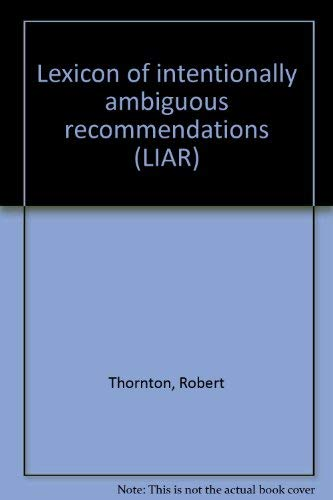 9780881661118: Lexicon of intentionally ambiguous recommendations (LIAR)