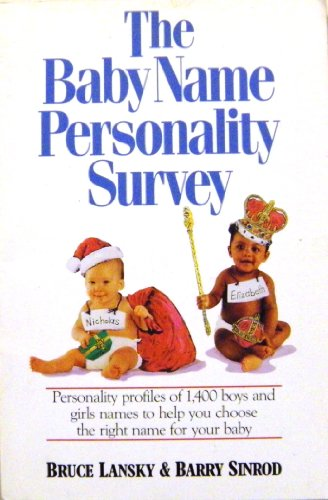 9780881661644: The Baby Name Personality Survey