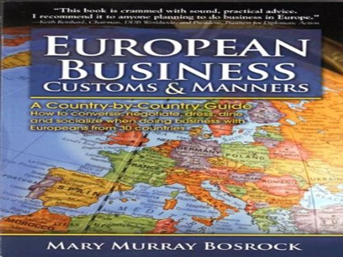 9780881664973: European Business Customs & Manners: A Country-By-Country Guide