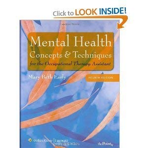 9780881672534: Mental health concepts and techniques for the occupational therapy assistant