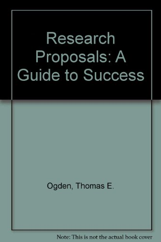 9780881677409: Research Proposals: A Guide to Success
