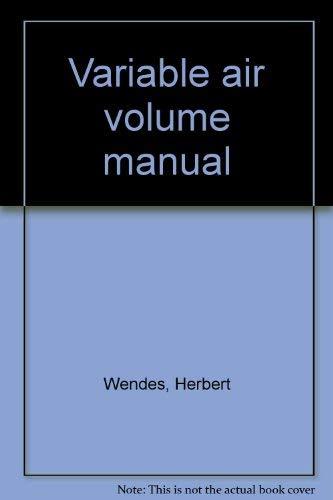 9780881730838: Variable air volume manual