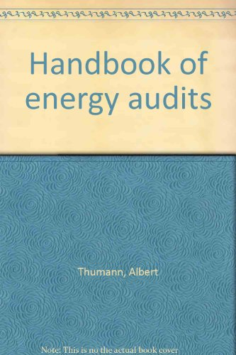 9780881731286: Handbook of energy audits