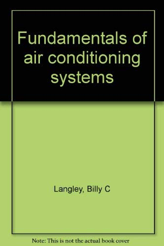 9780881731767: Fundamentals of air conditioning systems