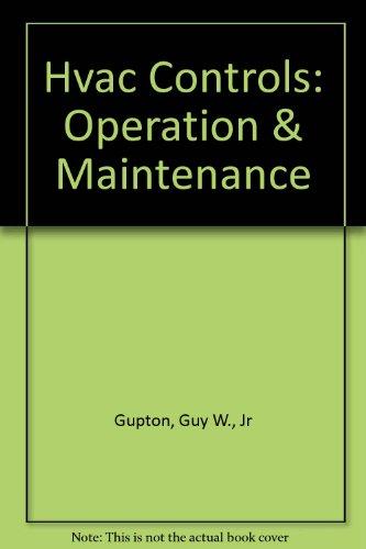 9780881733419: Hvac Controls: Operation & Maintenance