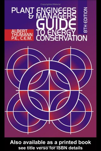 9780881733600: Plant Engineers and Managers Guide to Energy Conservation