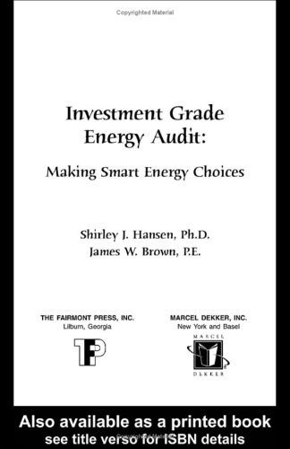 9780881733624: Investment Grade Energy Audit: Making Smart Energy Choices
