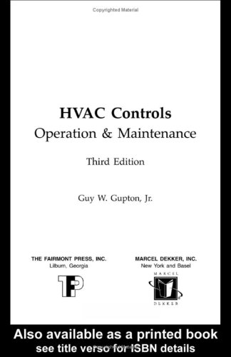 9780881733945: HVAC CONTROLS: OPERATION & MAINTENANCE, 3rd Edition