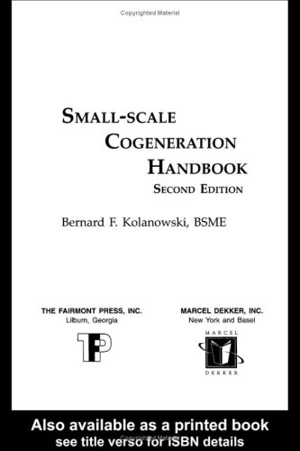 9780881734195: Small-Scale Cogeneration Handbook
