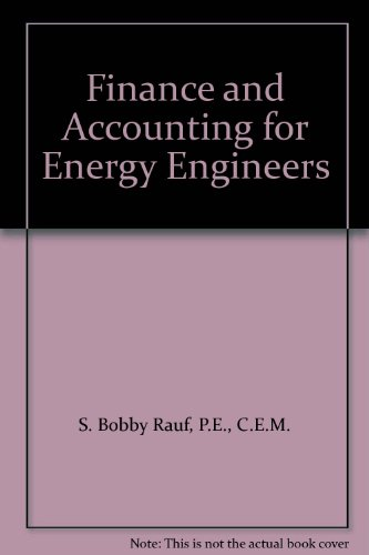 9780881736427: Finance and Accounting for Energy Engineers