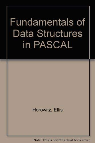 9780881751659: Fundamentals of Data Structures in PASCAL