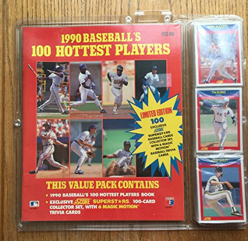 9780881767650: 1990 Baseball's 100 Hottest Players/Book and 100 Baseball Cards