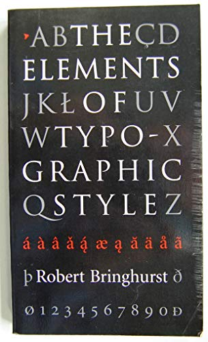 9780881790337: The Elements of Typographic Style