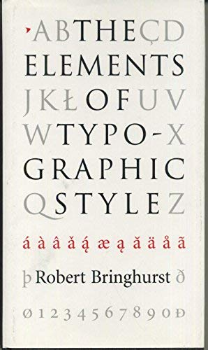9780881791105: The Elements of Typographic Style
