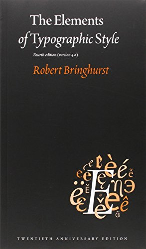 9780881792126: The Elements of Typographic Style: Version 4.0