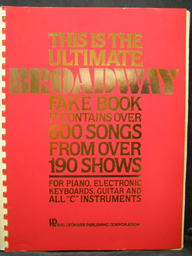 9780881882841: The Ultimate Broadway Fake Book