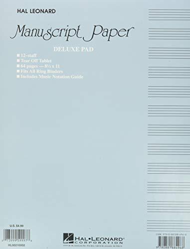 9780881884968: Manuscript Paper (Deluxe Pad)(Blue Cover)