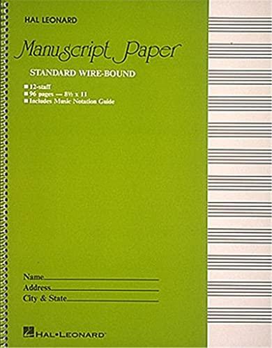 9780881884999: Standard Wire Bound Manuscript Paper: Green Cover