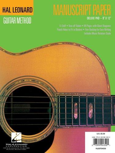 9780881885002: Guitar Manuscript Paper - Deluxe