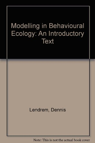 9780881920321: Modelling in Behavioural Ecology: An Introductory Text