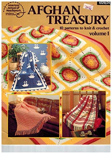 Afghan Treasury 10 Patterns to Knit & Crochet Volume 1: Mary Thomas