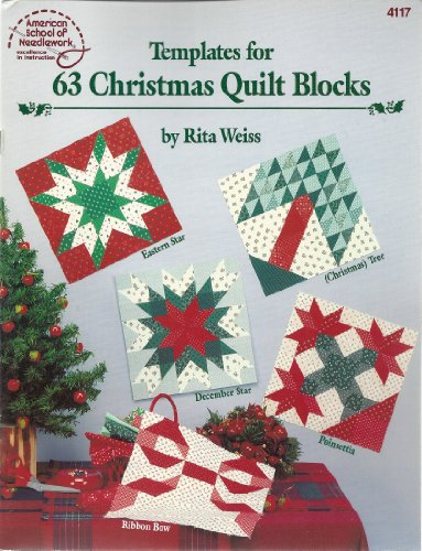 9780881952230: Templates for 63 Christmas Quilt Blocks