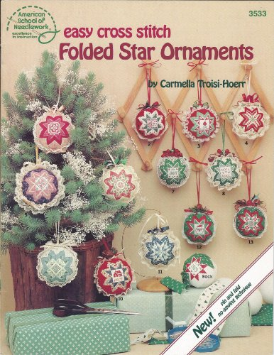 9780881952520: Easy Cross Stitch Folded Star Ornaments (3533)