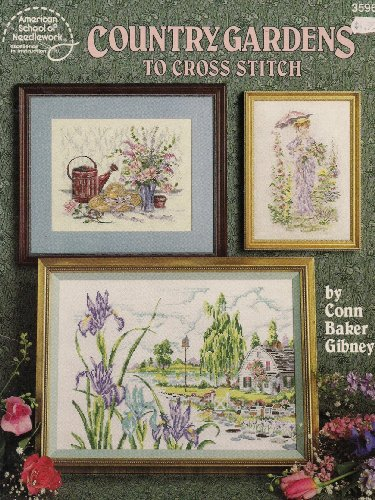 9780881954357: Country gardens to cross stitch
