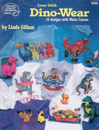 9780881956108: Cross Stitch Dino-Wear: 14 Designs with Waste Canvas