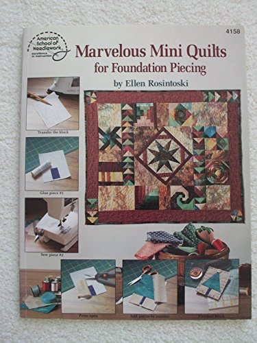 9780881956658: Marvelous Mini Quilts for Foundation Piecing