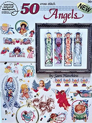 50 cross stitch angels (50 cross stitch designs): Hawkins, Sam