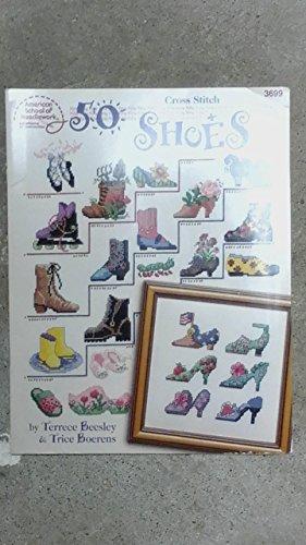 9780881958317: 50 Shoes Cross Stitch (American School Needlecraft #3699)