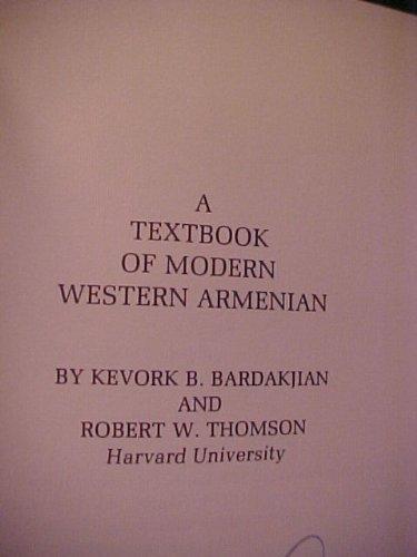9780882060125: A Textbook of modern western Armenian