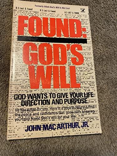9780882075037: Found God's Will
