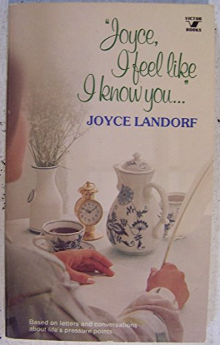 """Joyce I feel like I know you"""": Based on letters and conversations about life's pressure ..."""
