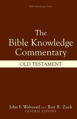 9780882078137: The Bible Knowledge Commentary (Old Testament:)