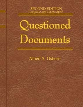9780882291901: Questioned Documents (Professional/Technical series)