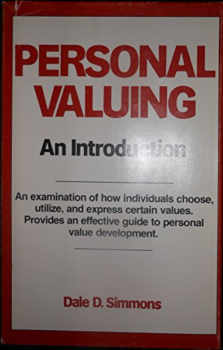 9780882295657: Personal Valuing: An Introduction