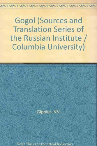 9780882336121: Gogol (Sources and Translation Series of the Russian Institute Columbia University)