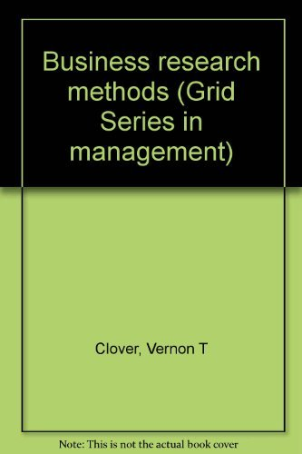 9780882442617: Business research methods (Grid series in management)