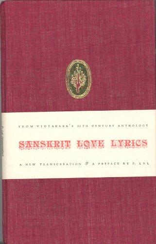 SANSKRIT LOVE LYRICS: Vidyakara (ed.) (Lal,