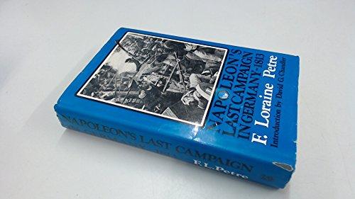 9780882542645: Napoleon's Last Campaign in Germany, 1813