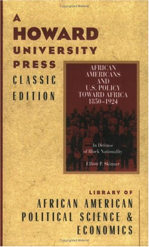9780882581590: African Americans and U.S. Policy Toward Africa 1850-1924: In Defense of Black Nationality