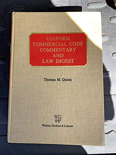 9780882621746: Uniform commercial code commentary and law digest