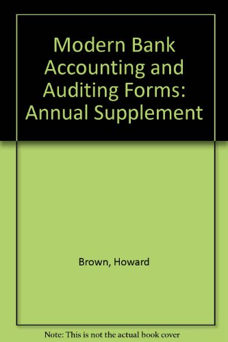 9780882622668: Modern Bank Accounting and Auditing Forms: Annual Supplement