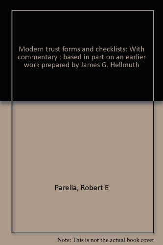 9780882622750: Modern trust forms and checklists: With commentary : based in part on an earlier work prepared by James G. Hellmuth