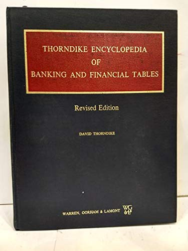 9780882624723: Thorndike encyclopedia of banking and financial tables