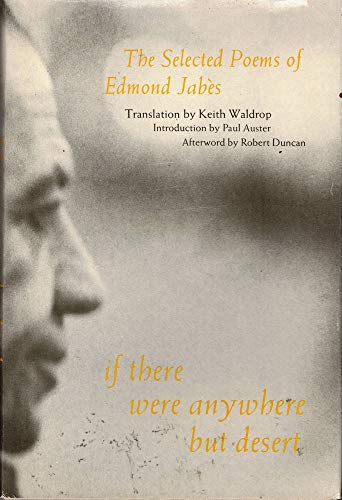 9780882680521: If There Were Anywhere but Desert: The Selected Poems of Edmond Jabes