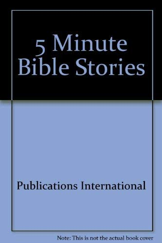 9780882713489: 5 Minute Bible Stories